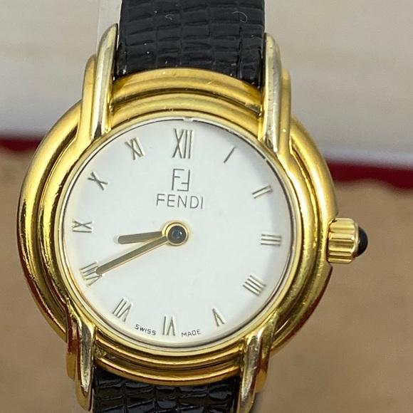 Fendi Watch 300L Sculptured Lugs 18KGP New Strap
